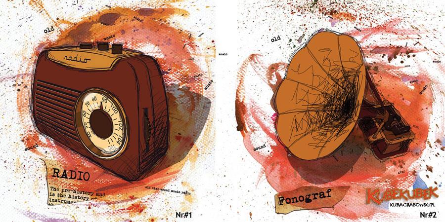 Dwie ilustracje do kalendarza firmowego dla IMS.
