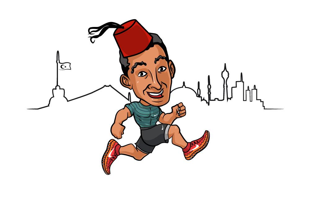 Ilustracja dla Nike na koszulki odnośnie biegu w Istambule.