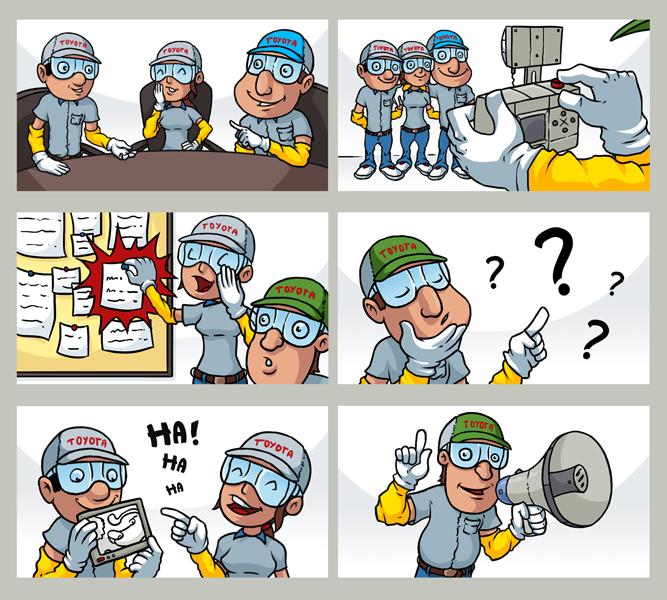 Ilustracje dla Charakter Consulting - docelowo Toyota.