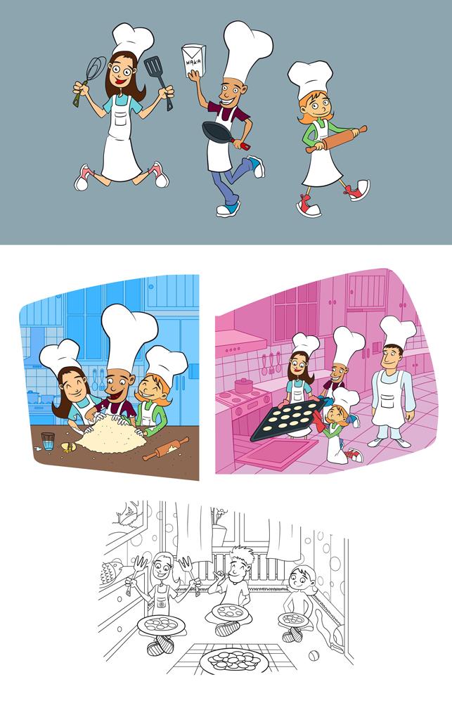 Ilustracje dla Cheil - docelowo Little Chef.