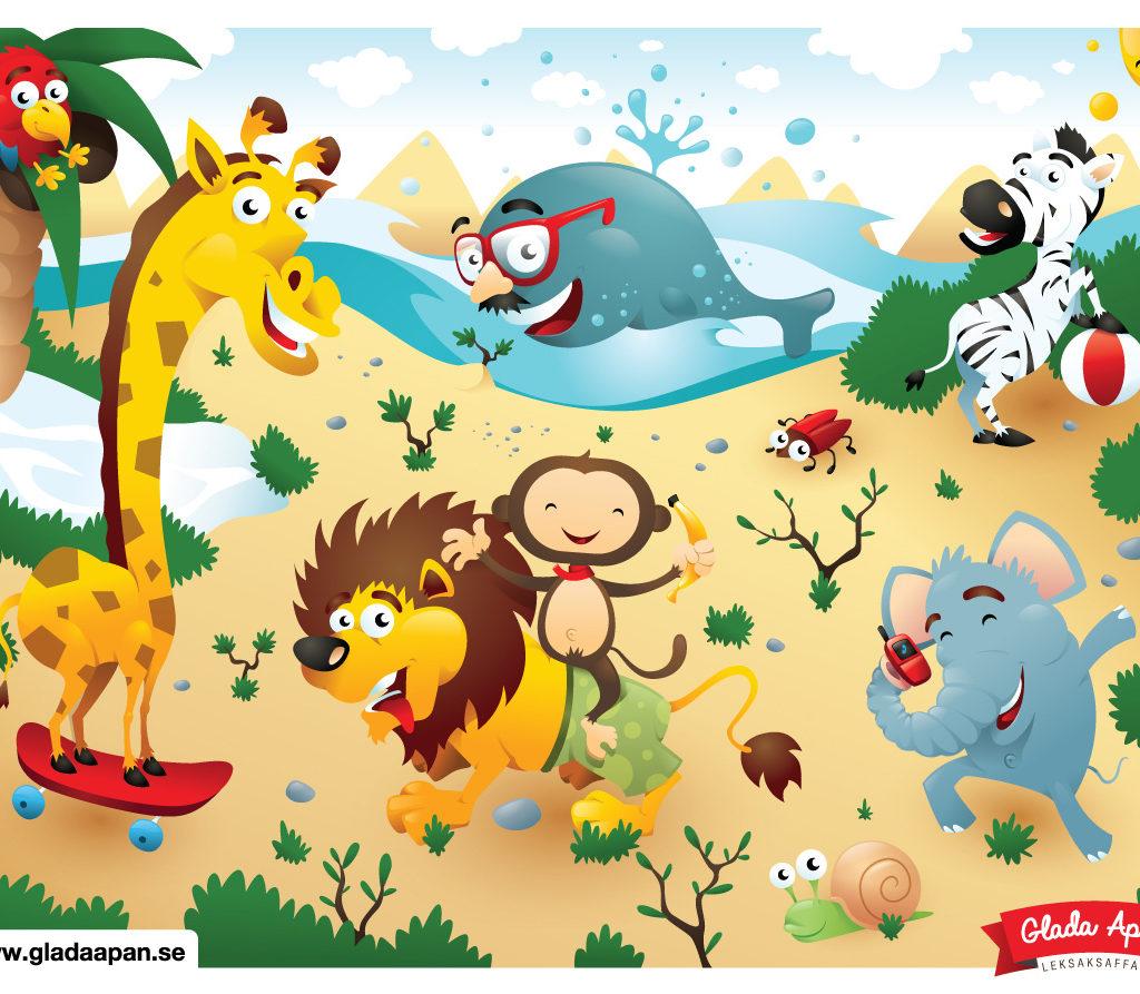 Ilustracja do puzzli dla Glada Apan.