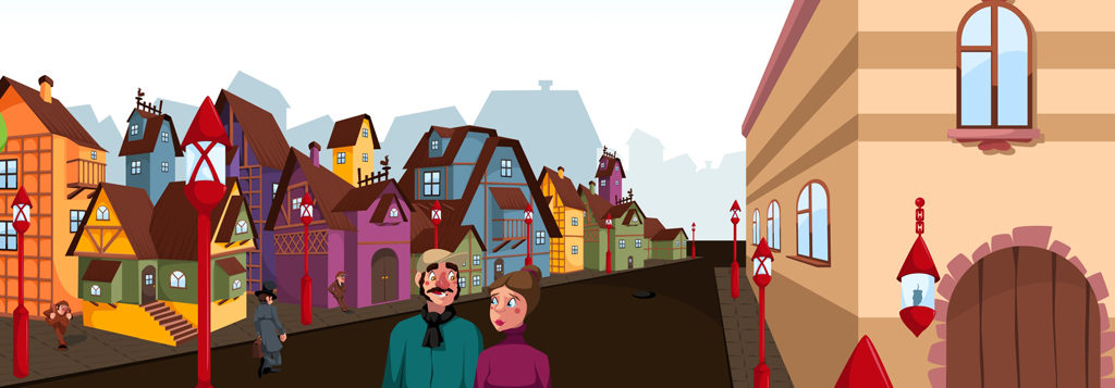 Kopciuszek - jedna z ilustracji do Bajkowej Symfonii.