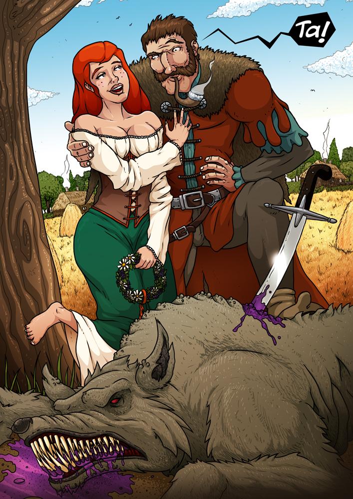 """Promo-art do komiksowego projektu """"Rycerz Ciernistego Krzewu"""""""