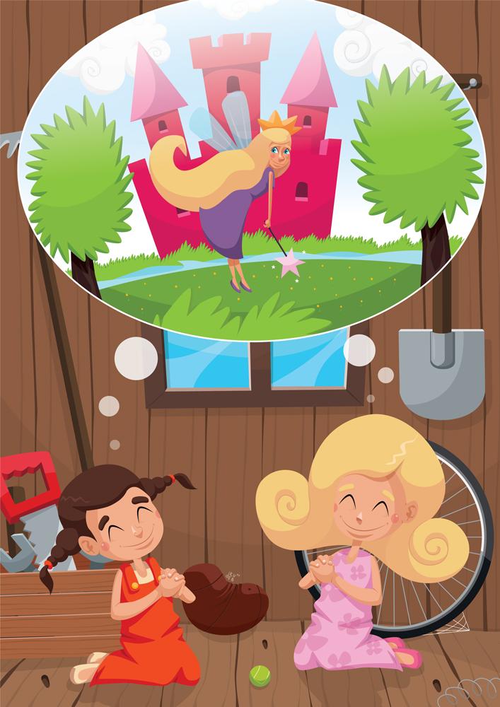 """Jedna z kilkunastu ilustracja do książeczki dla dzieci """"Kraina Zabawek"""" dla wydawnictwa MJ DISTRIBUTION GROUP"""