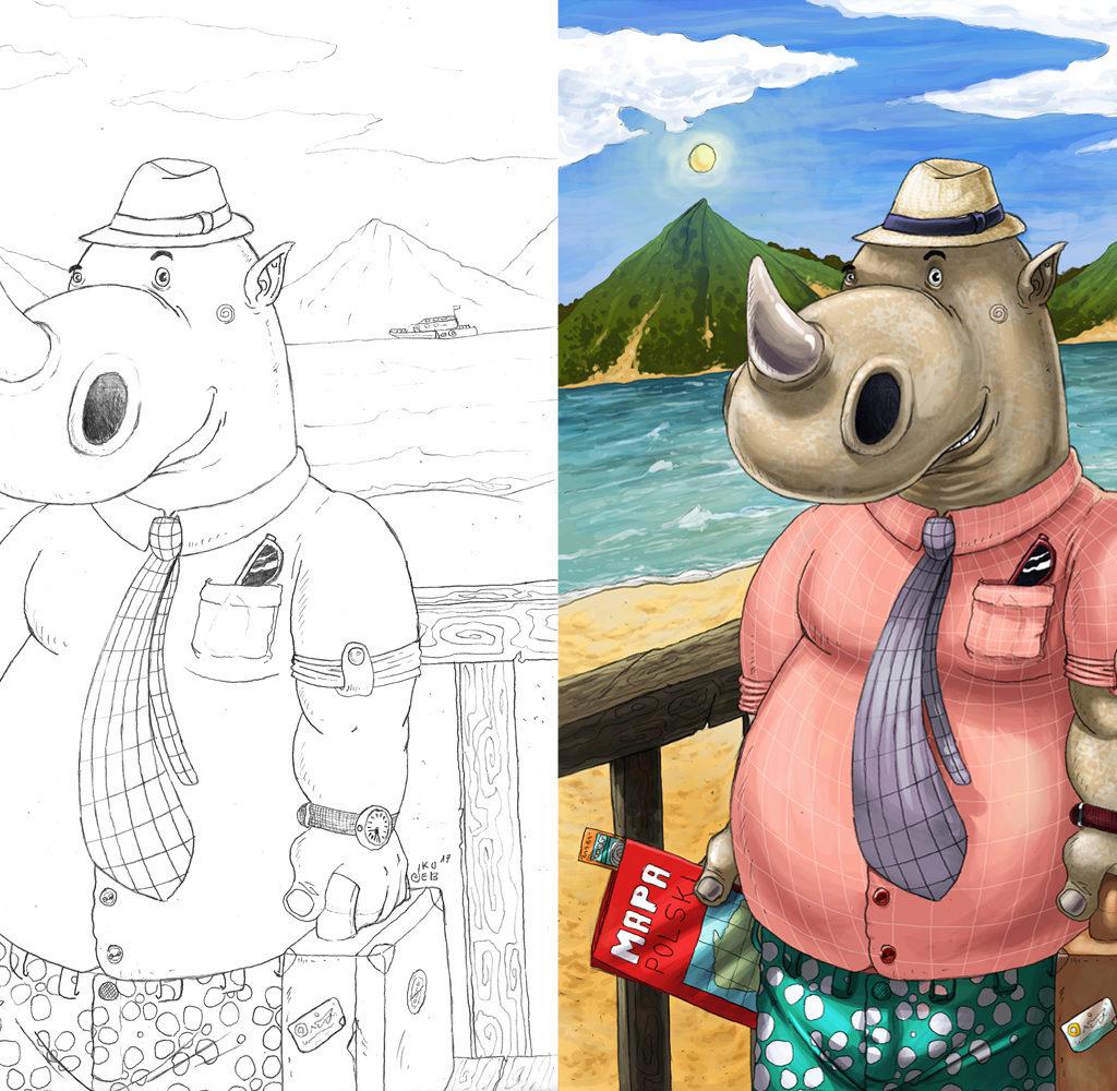 Nosorożec na urlopie.