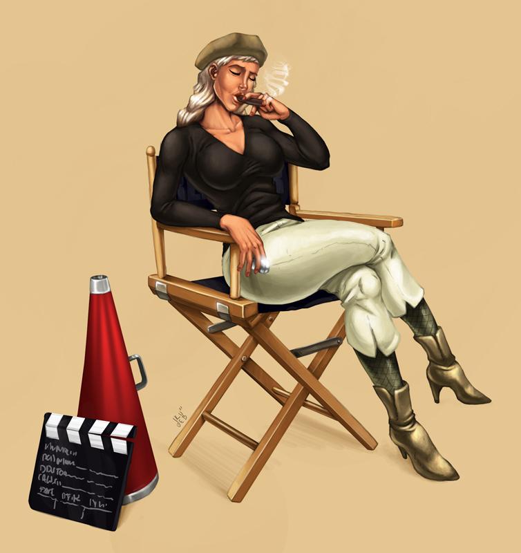 Reżyser. Ilustracja do strony www.