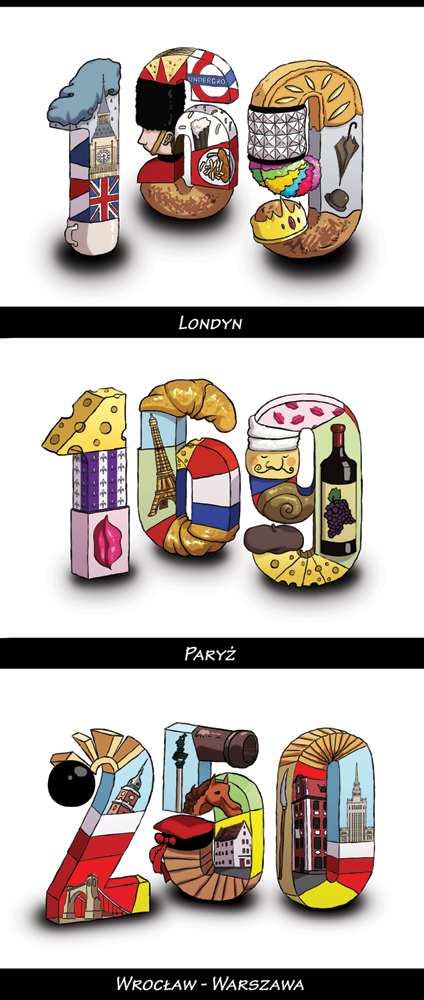 Ceny - ilustracje dla LOT