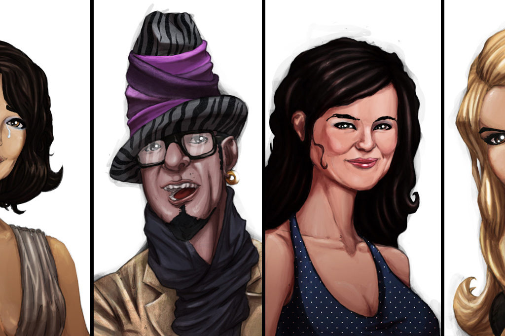 Ilustracje do Viproom - serii animowanej dla IMS. Podobieństwo do istniejących osób nieprzypadkowe.