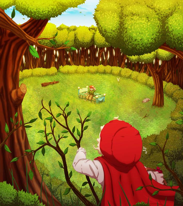 """1 z 9 ilustracji do książki dla dzieci o roboczym tytule """"Malwin i Bajki"""""""