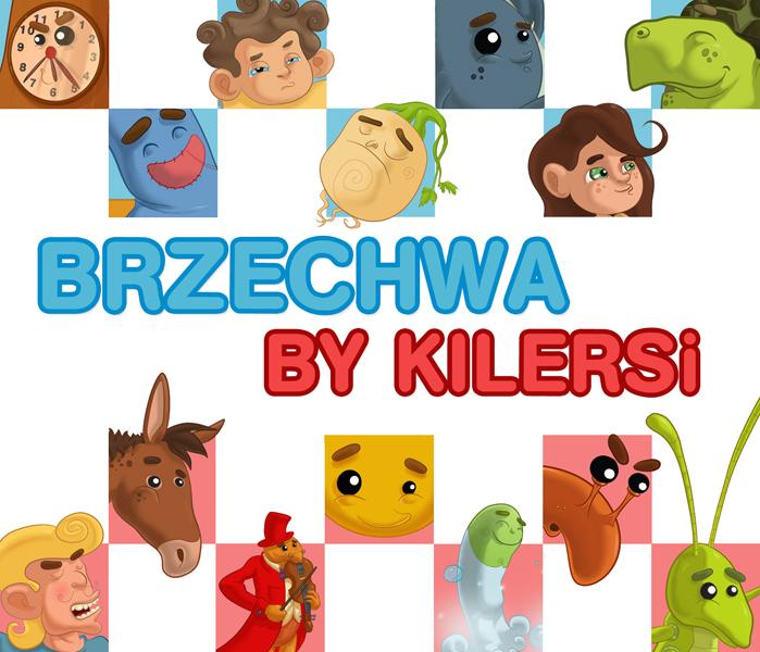 Brzechwa By Kilersi. Okładka płyty z książeczką i utworami dla dzieci.