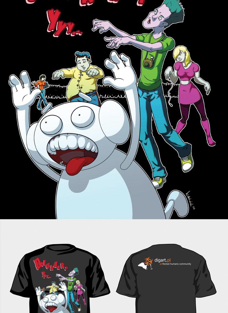 DA T-shirt. Projekt nadruku na koszulkę. Praca konkursowa.