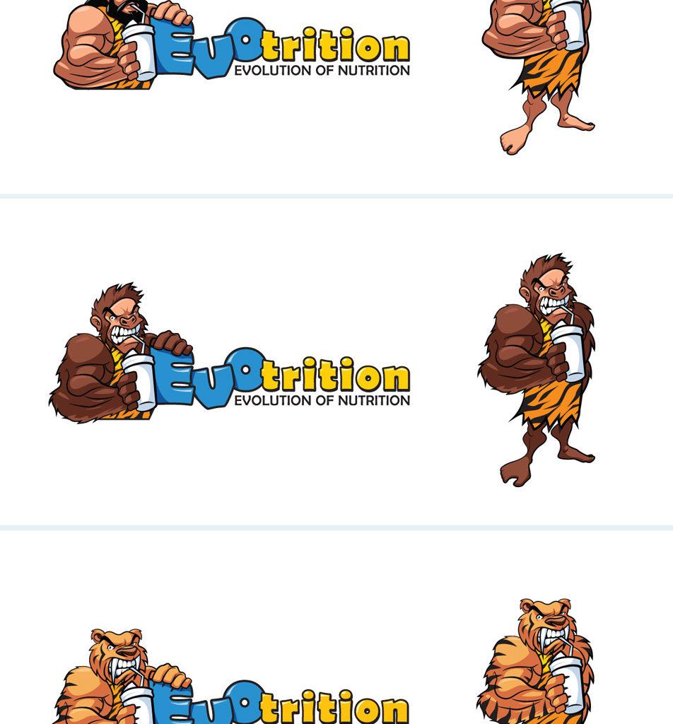 Projekt logo i maskotki dla Evotrition.