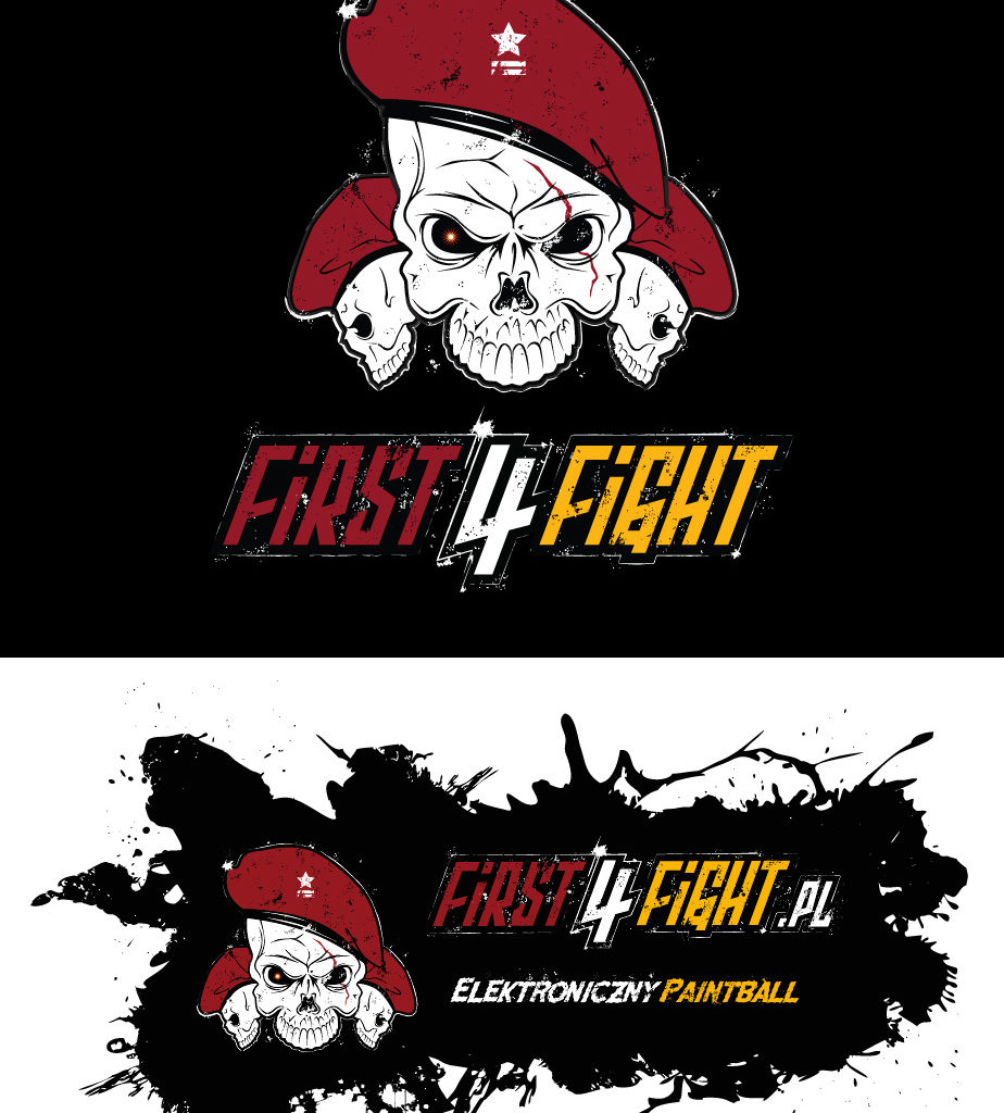 First 4 Fight - logo + grafika na auto.
