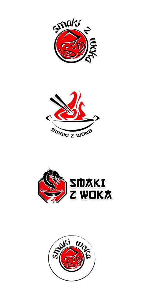 Projekt loga dla chińskiej restauracji - Smaki Woka.