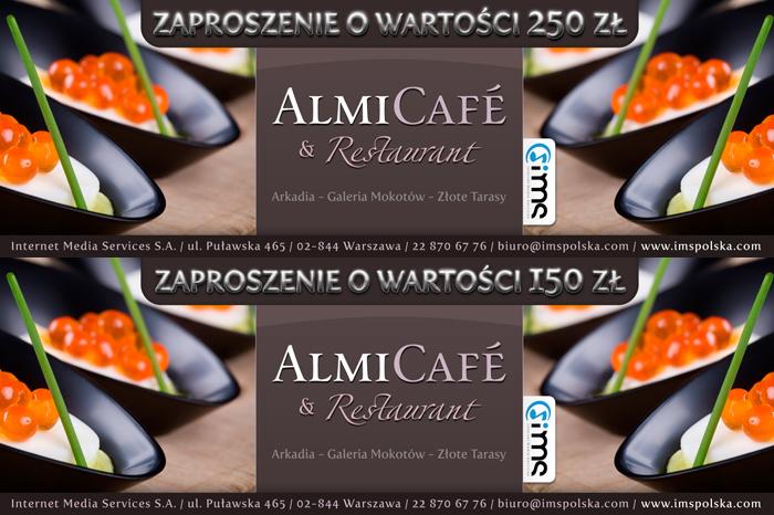 Almi Cafe & Restaurant - Zaproszenie/Voucher.