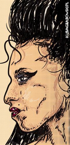 Amy Winehouse. Szybki szkic do projektu.