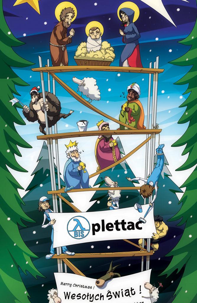 Kartka Bożonarodzeniowa dla Bis Plettac.