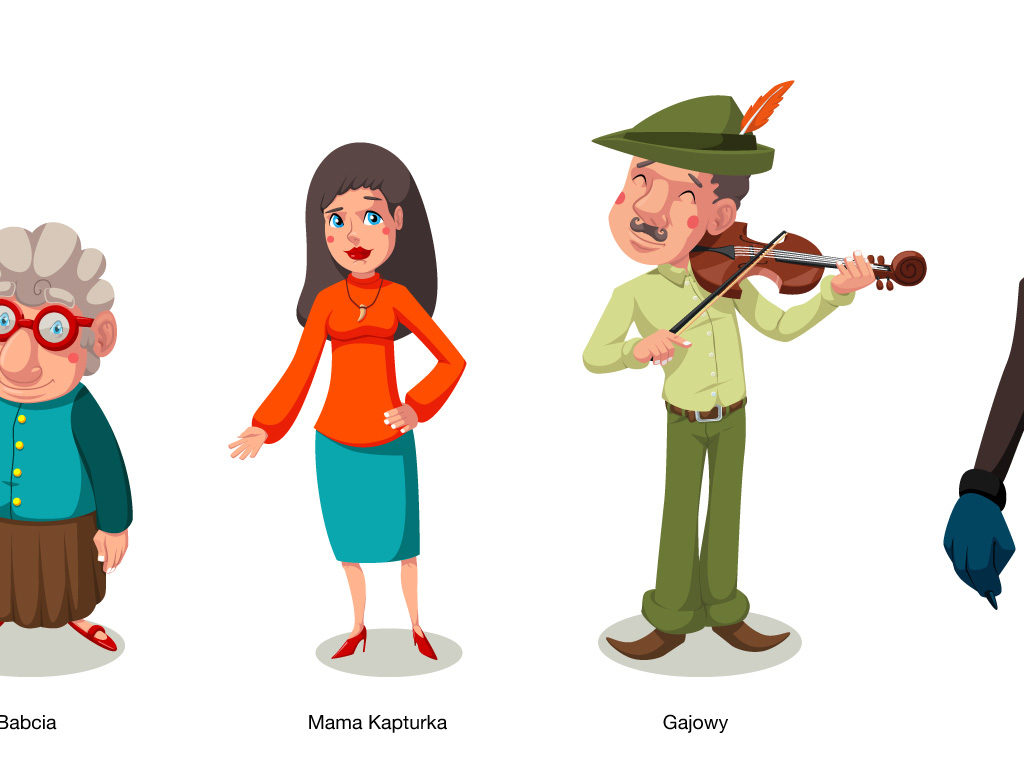 Czerwony Kapturek - Koncepty postaci do Bajkowej Symfonii,