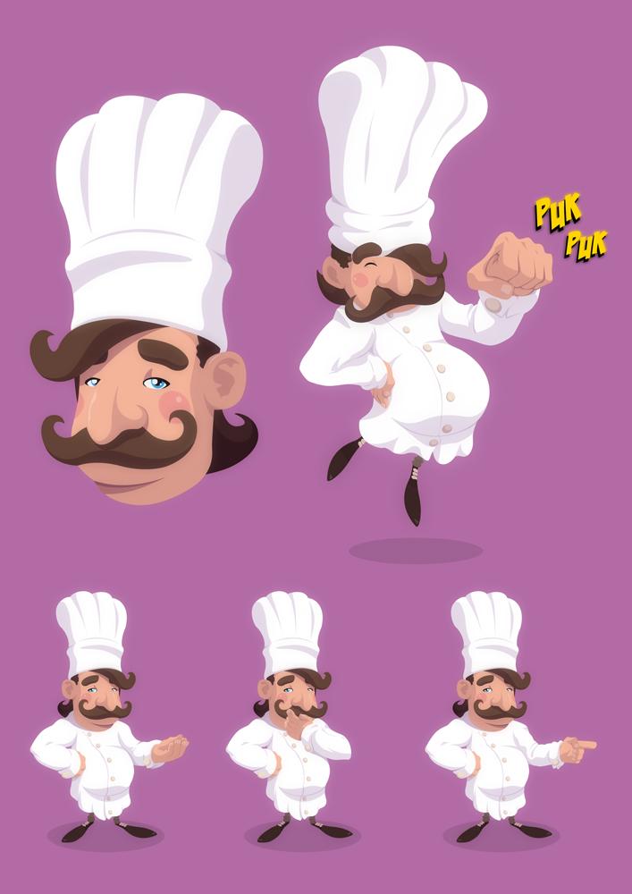 Kucharz. Na potrzeby animacji.