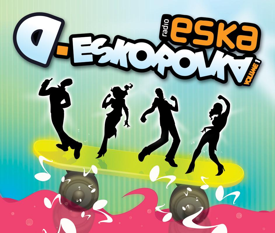 Projekt frontu okładki dla Radio ESKA.