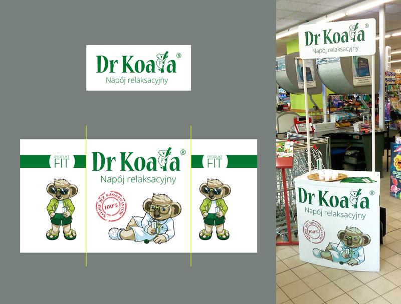 Projekt stoiska dla Koala drink.