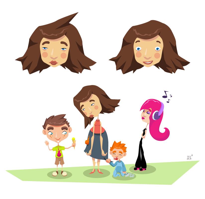 Wesoły Świat Dziecka - koncepty postaci do animacji dla IMS.