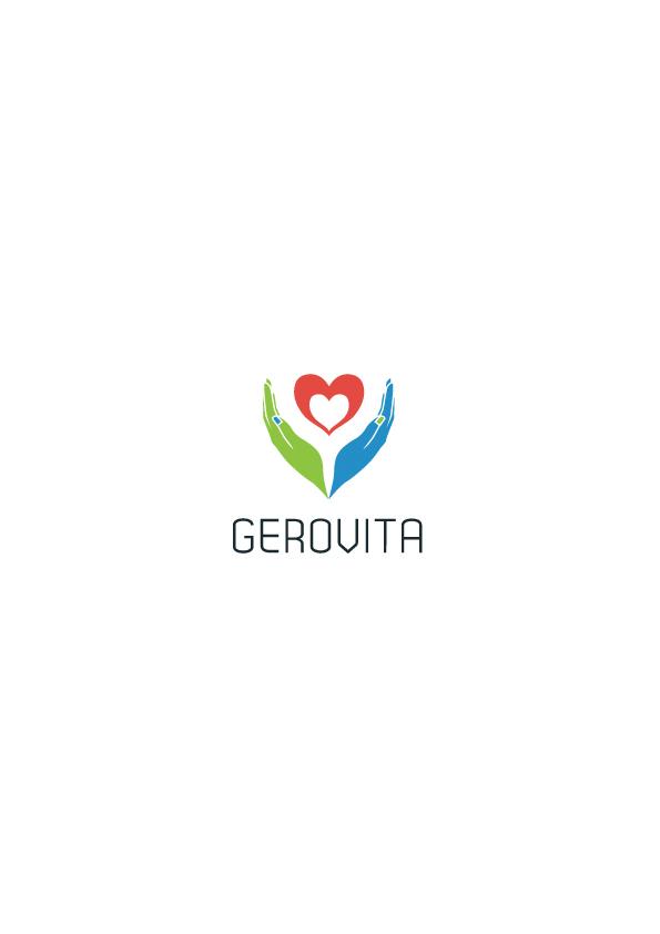Gerovita - projekt logo dla firmy zajmującej się pomocą dla osób starszych.