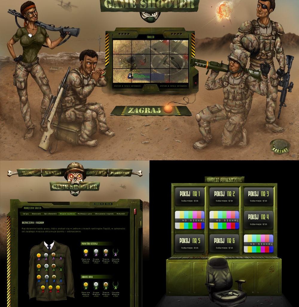 Game Shooter - projekt strony gry wojenej typu multiplayer.