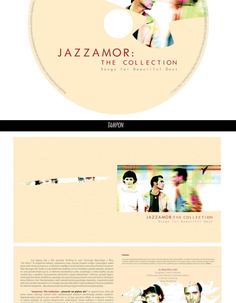 """Projekt płyty """"Jazzamor: The Collection - Songs For Beautiful Days"""". Wydawcą jest Warner Music Poland."""