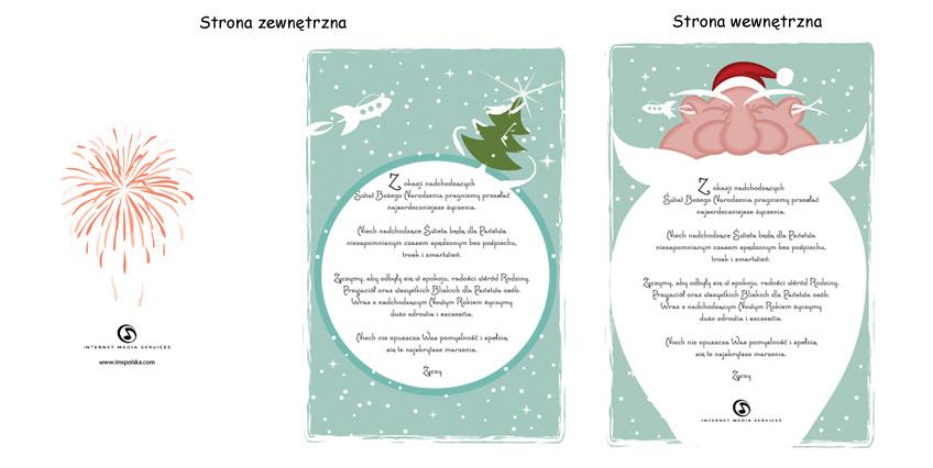 Kartka świąteczna na Boże Narodzenie, dla IMS.