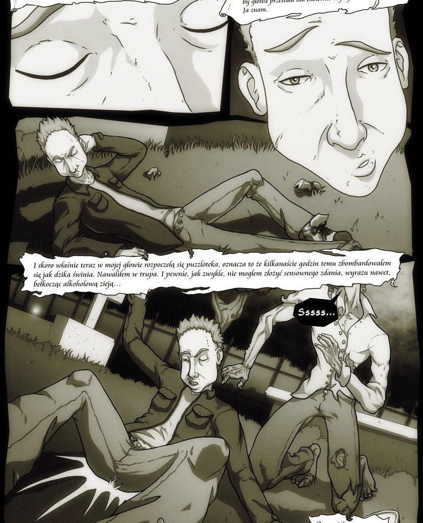 Przygody Leszka - Zombie też człowiek. Scenariusz - Dominik Szcześniak. Strona 1/6.