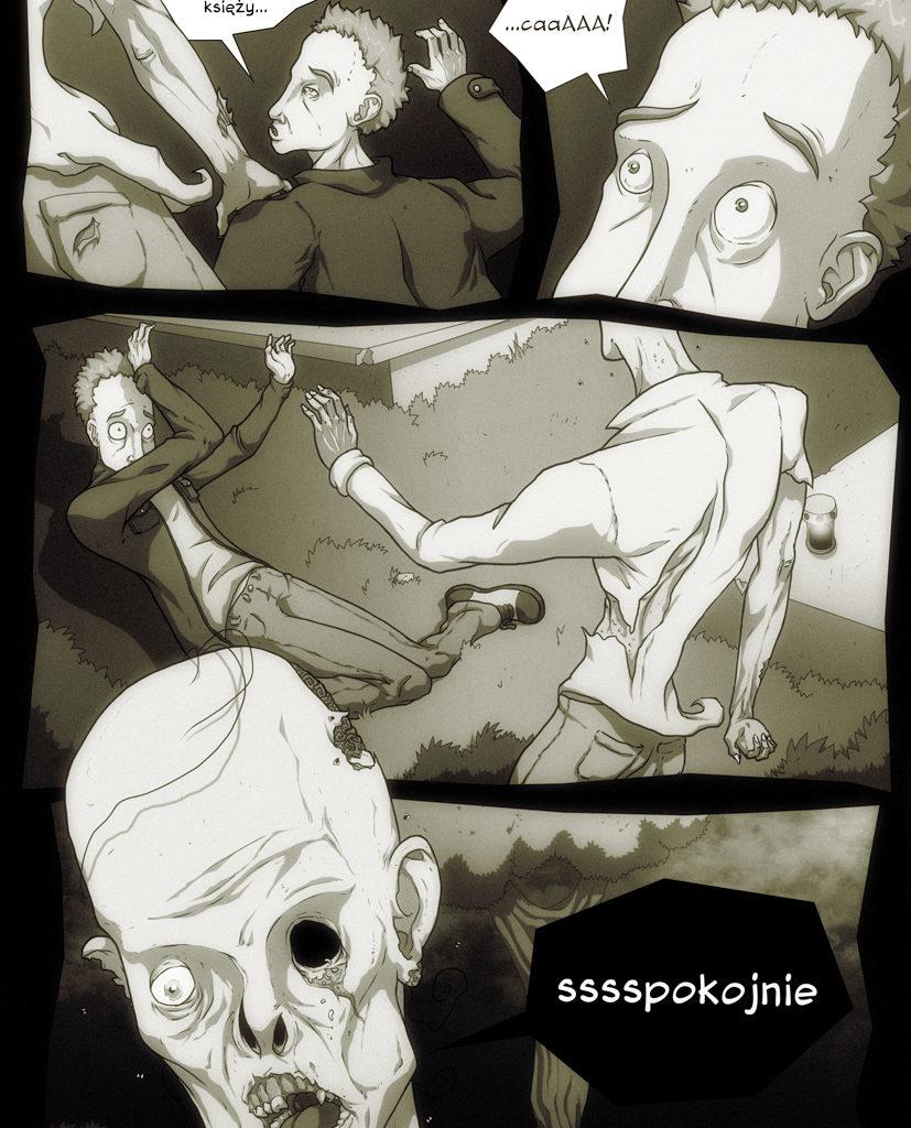 Przygody Leszka - Zombie też człowiek. Scenariusz - Dominik Szcześniak. Strona 2/6.