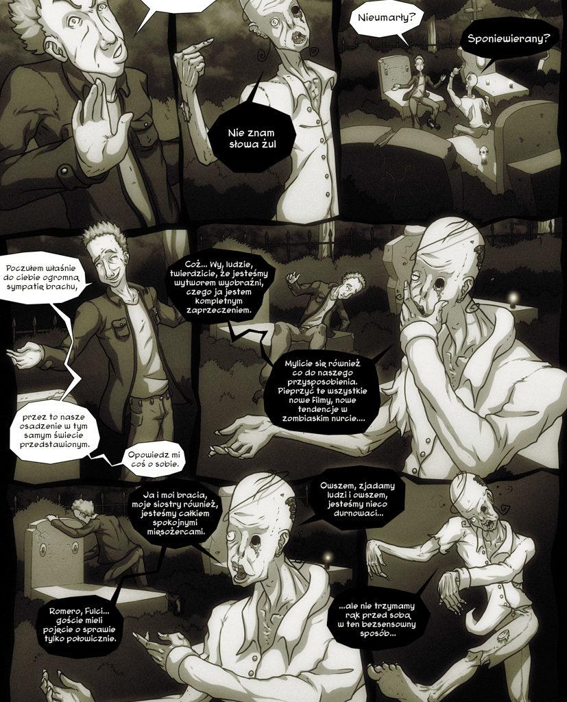 Przygody Leszka - Zombie też człowiek. Scenariusz - Dominik Szcześniak. Strona 4/6.