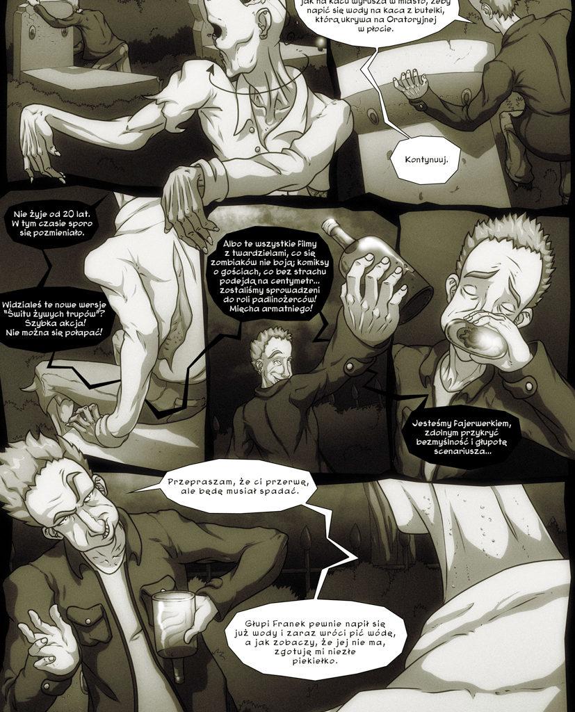 Przygody Leszka - Zombie też człowiek. Scenariusz - Dominik Szcześniak. Strona 6/6.