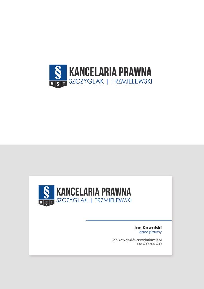 Projekt logo i wizytówki dla kancelarii.