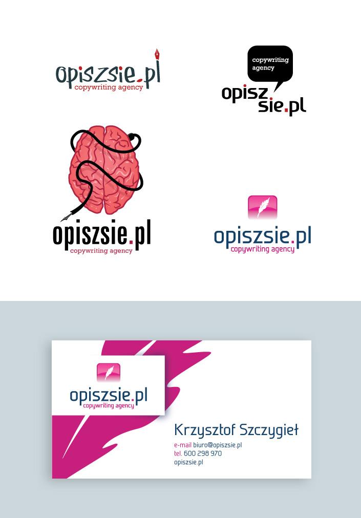 Logo i projekt wizytówki dla agencji copywriterskiej.