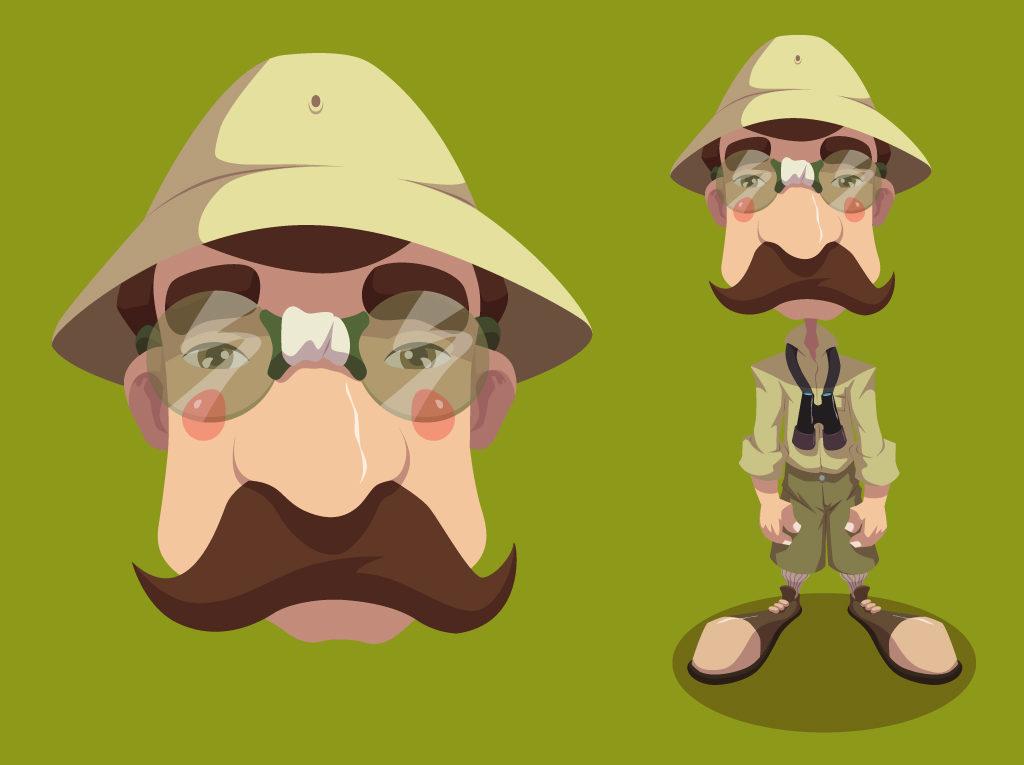 Przyrodnik. Koncept postaci na potrzeby animacji dla IMS.