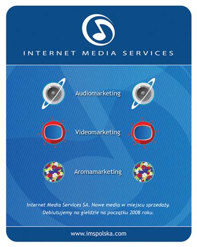 Reklama Prasowa. Trzy usługi - audiomarketing, aromamarketing, videomarketing dla IMS.