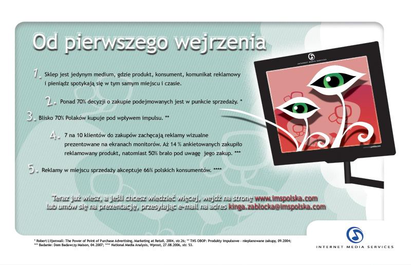 Reklama prasowa - POS TV dla IMS.