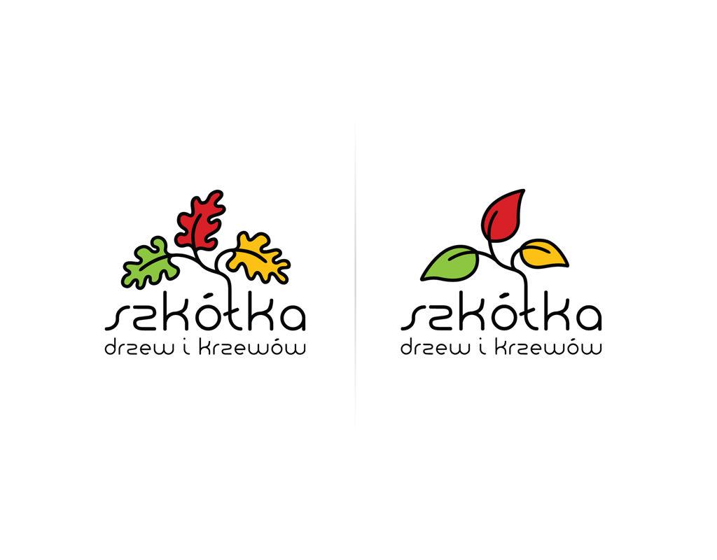 Logo dla Szkółki Drzew i Krzewów.