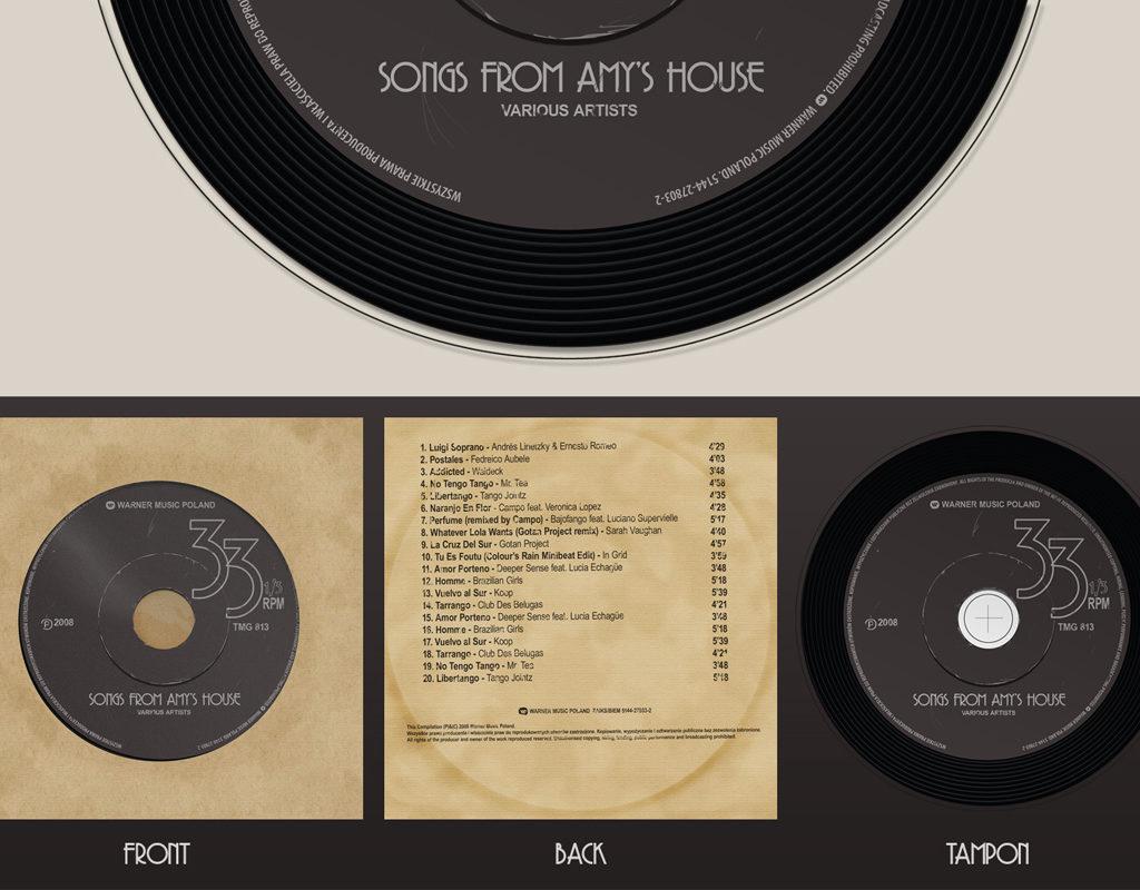Pierwszy odrzucony projekt płyty Songs From Amy's House.