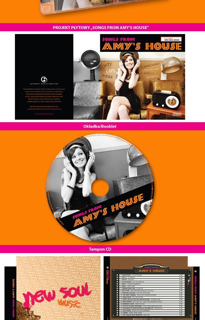 """Projekt płyty """"Songs From Amy's House"""". Wydawcą jest Warner Music Poland."""