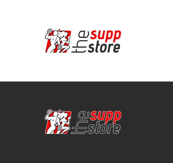 Logo dla sklepu z suplementami.