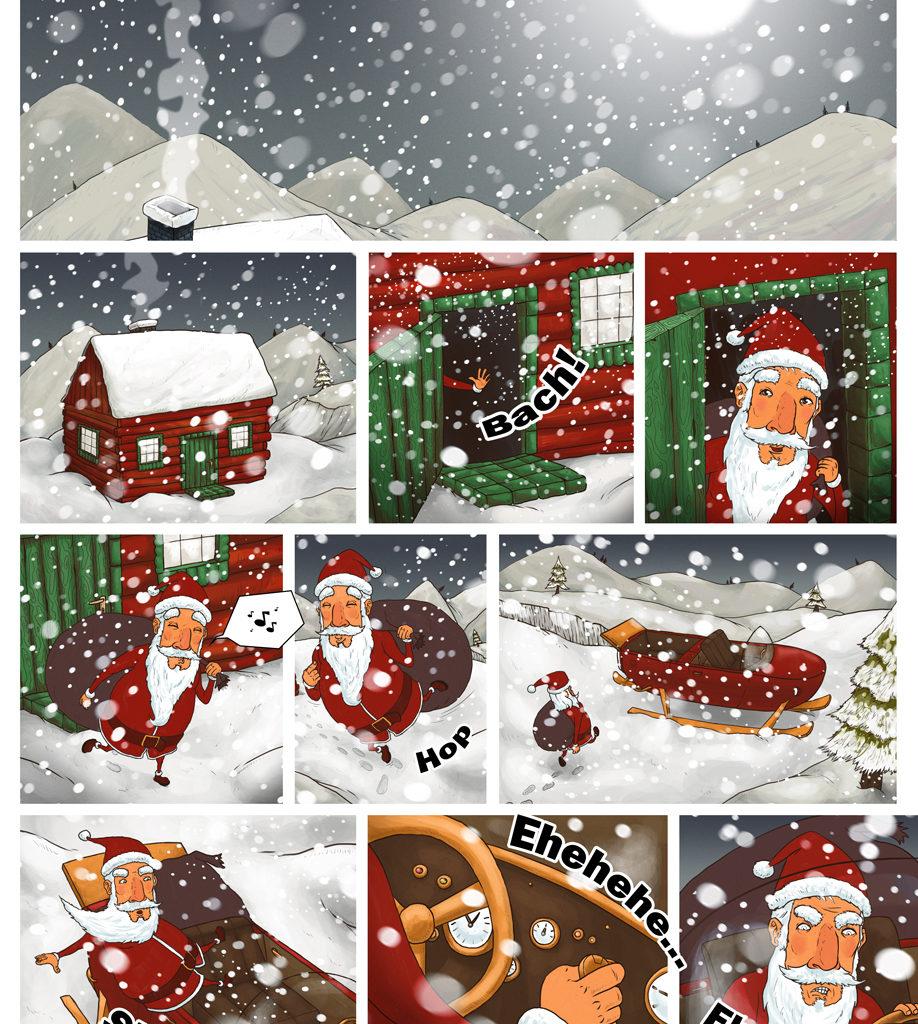 1 z 3 planszy do animacji świątecznej dla IMS