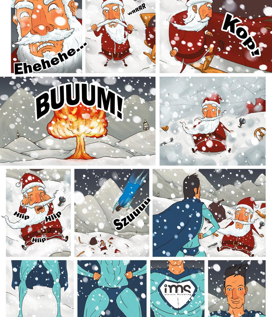 2 z 3 planszy do animacji świątecznej dla IMS