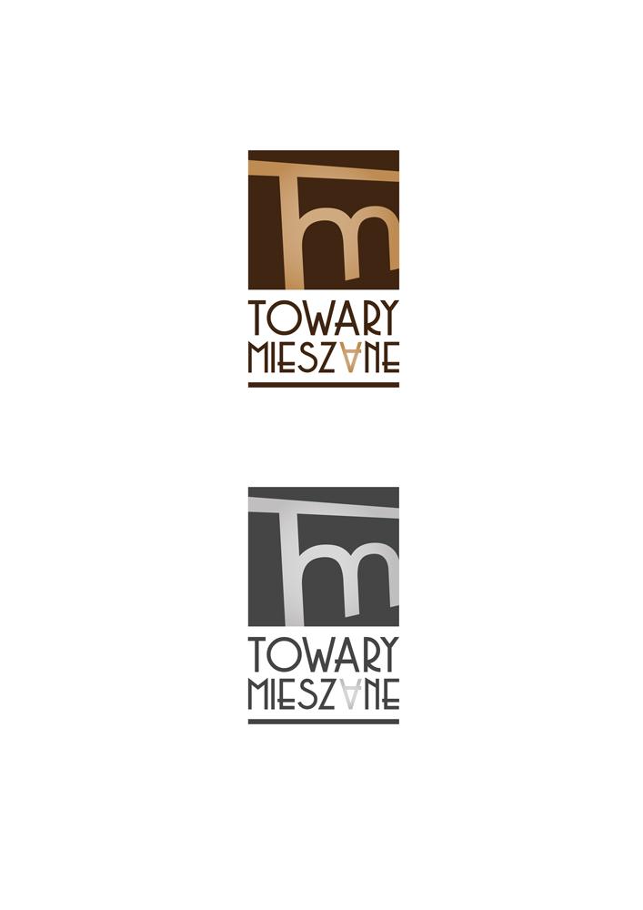 Projekt logo firmy zajmującej się produkcją sztucznej biżuterii, renowacją mebli, dekupażem itp. Wersja standardowa i monochromatyczna.