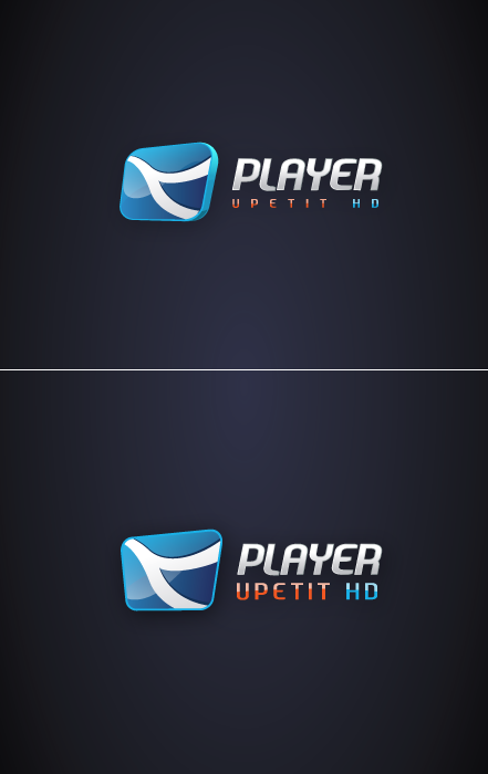 Logo play'era video Upetit HD. Dwa warianty.