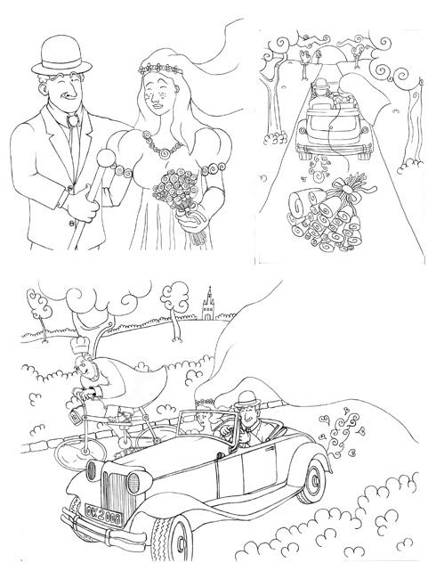 Linearty do zaproszenia na ślub.