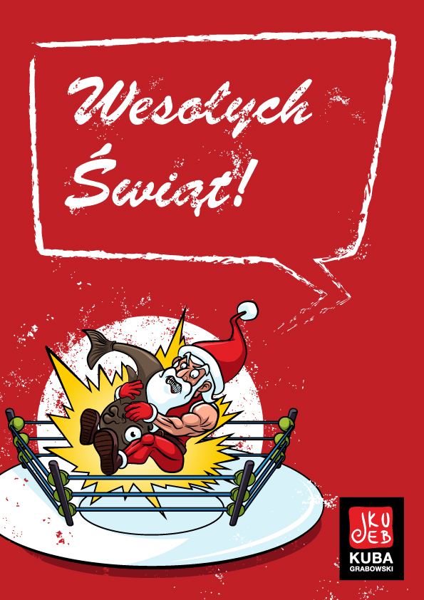 Projekt e-kartki świątecznej.