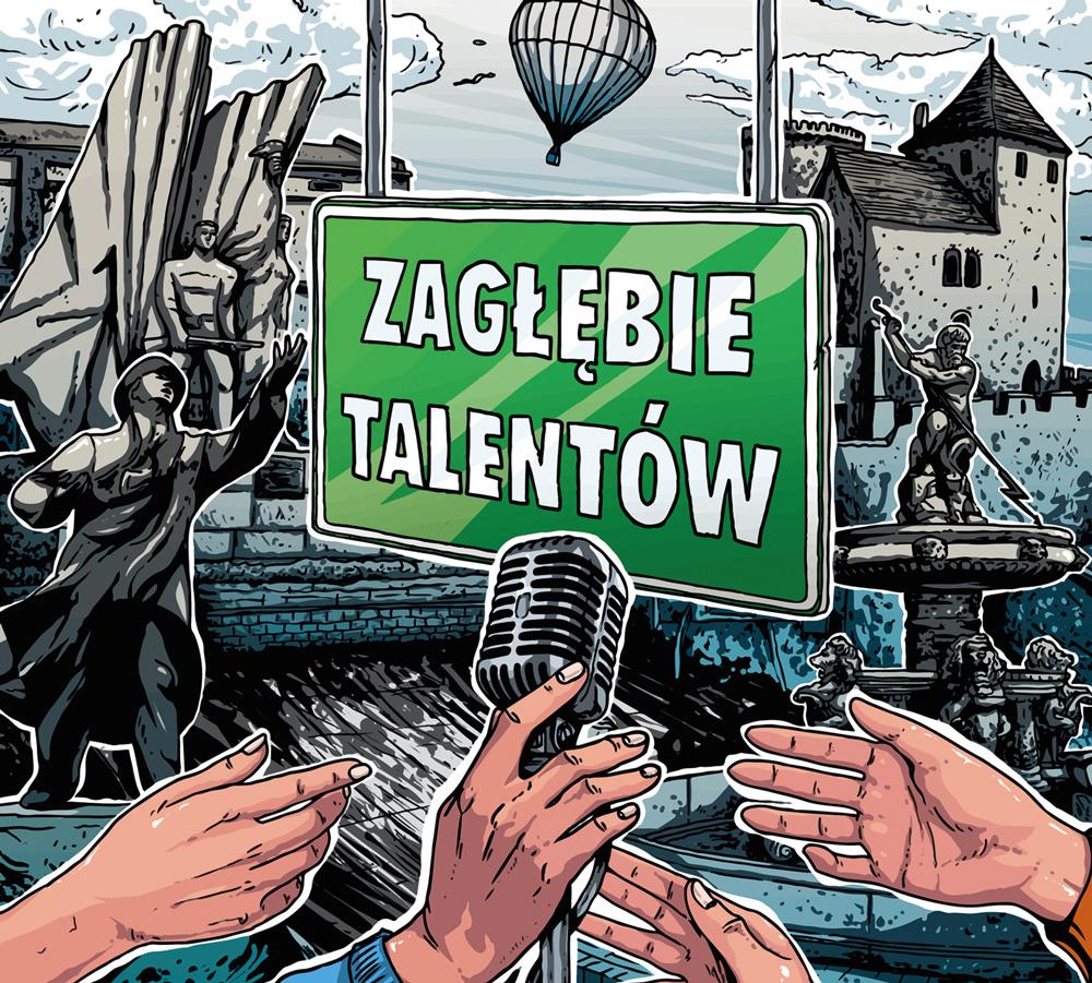 Zagłębie Talentów - projekt okładki płyty.